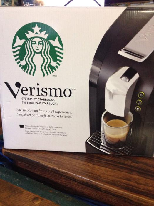 Verismo Coffee Maker Red : REDUCED-New Starbucks Verismo Coffee Machine South Nanaimo, Nanaimo