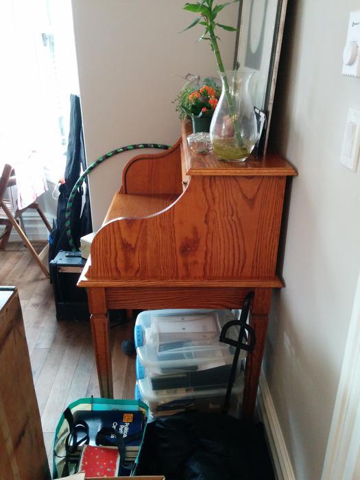 Beautiful Oak Roll Top Desk Handmade In Victoria Obo