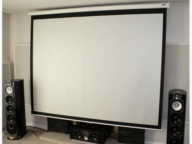 large 115 inch dalite home theatre lcd led projector screen