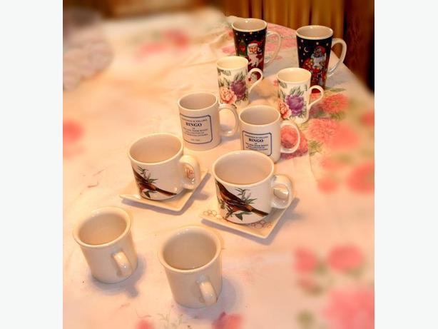 5 Pairs of Like New, Rarely Used Mugs