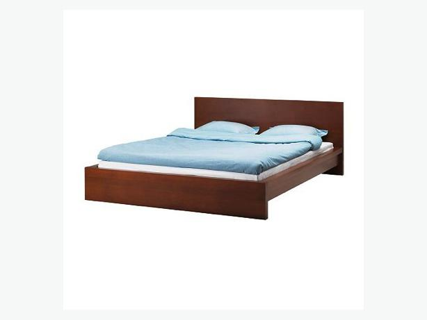 Wanted king size ikea malm bed frame in medium brown for Used bed frame with storage