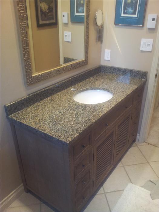 Custom Granite Quartz Bath Vanity Sale Central Saanich