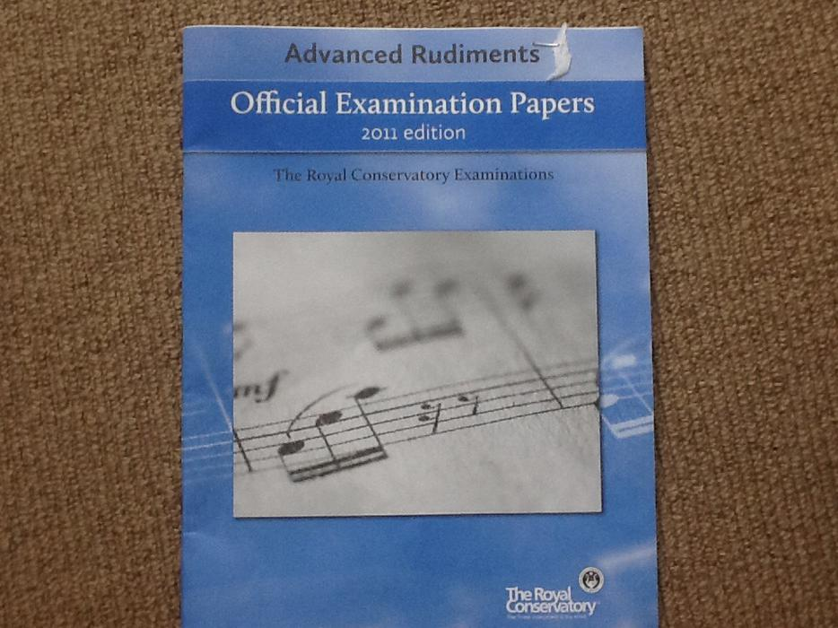 intermediate rudiments official examination papers