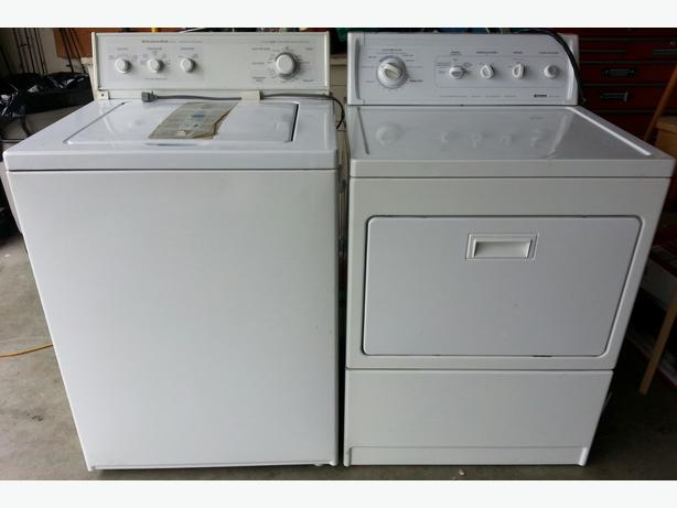 kitchenaid washer and kenmore dryer good condition