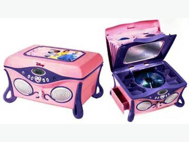 Disney Princess Pink amp Purple Jukebox CD Player and Jewelry