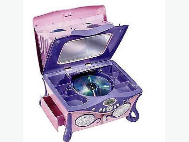 Disney Princess Pink amp Purple Jukebox CD Player and Jewelry Box