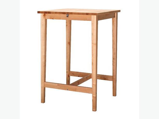 Ikea bj rkudden bar table two free bar stools downtown - Mesa exterior ikea ...