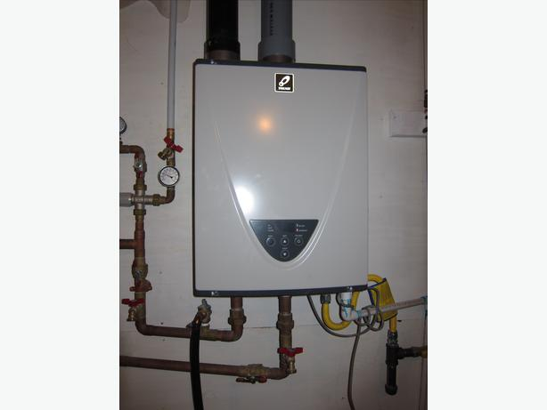 Propane on demand water heater comox campbell river for Used hot water heater