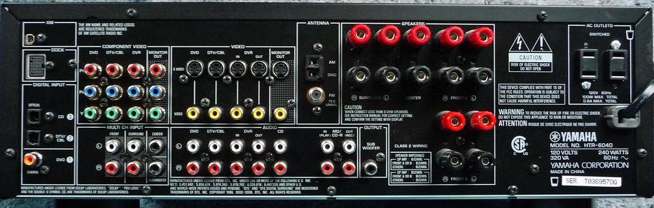 Yamaha receiver hook up