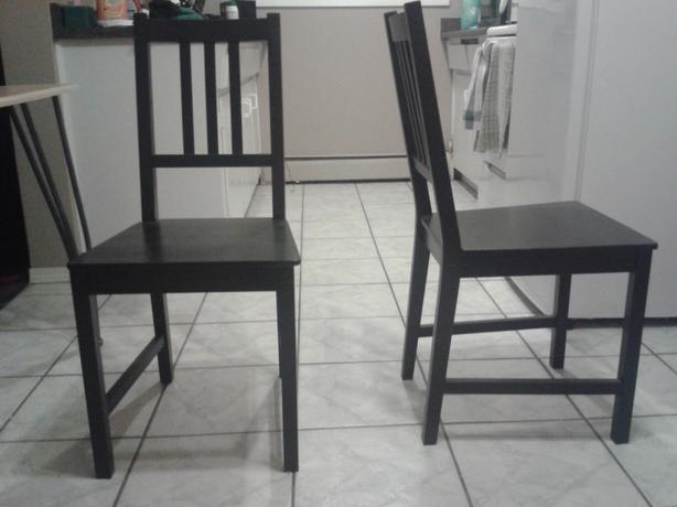 2 black ikea chairs south west calgary mobile. Black Bedroom Furniture Sets. Home Design Ideas