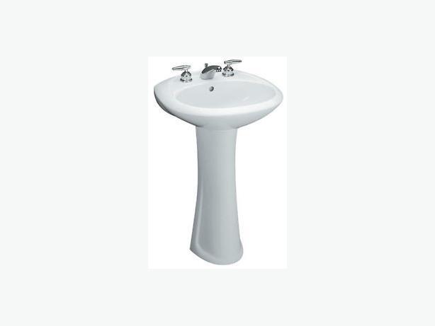 Log In needed $40 ? Mancesa white pedestal sink