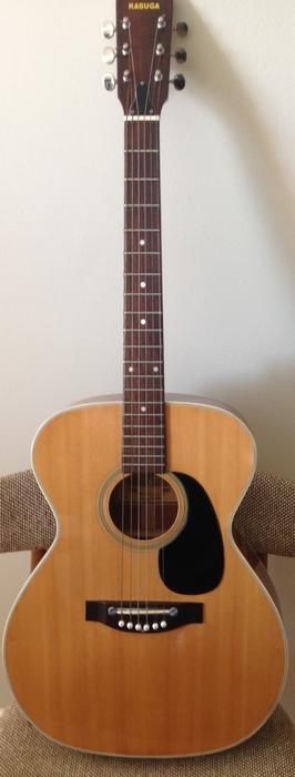 vintage 1972 kasuga kf 420 accoutic guitar with xtras case orleans ottawa. Black Bedroom Furniture Sets. Home Design Ideas