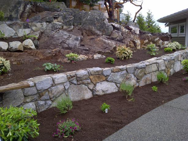 Landscape masonry and bobcat services qualicum nanaimo for Landscaping rocks windsor ontario