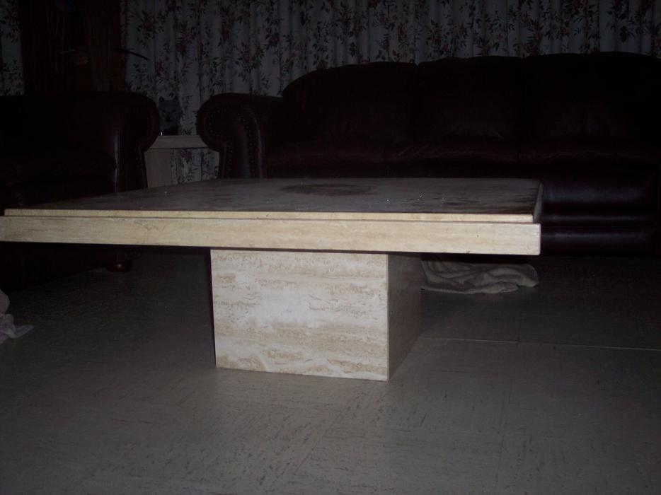 reduced price solid marble coffee table and matching end table outside sault ste marie sault. Black Bedroom Furniture Sets. Home Design Ideas