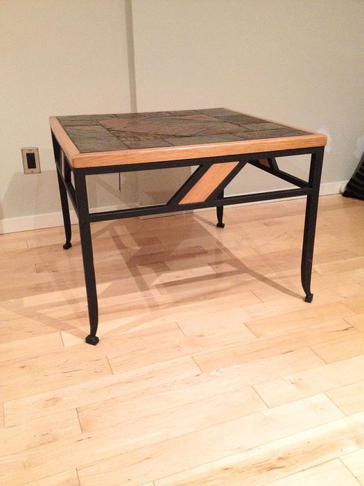 south african slate coffee table and end table set victoria city victoria. Black Bedroom Furniture Sets. Home Design Ideas