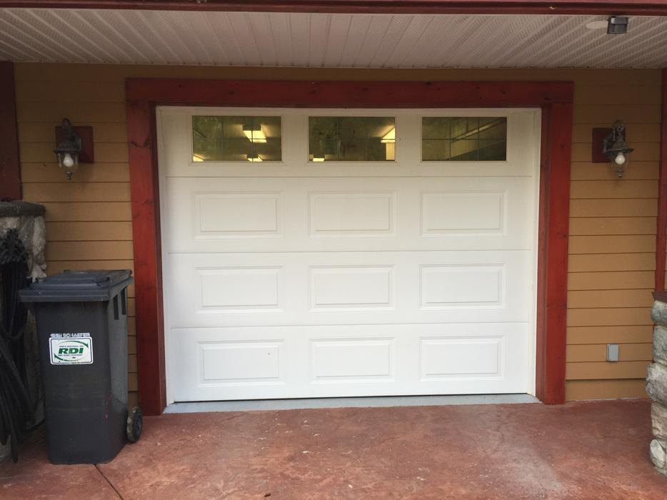 Two 9ft X 7 Ft Steel Craft Garage Doors Outside Nanaimo