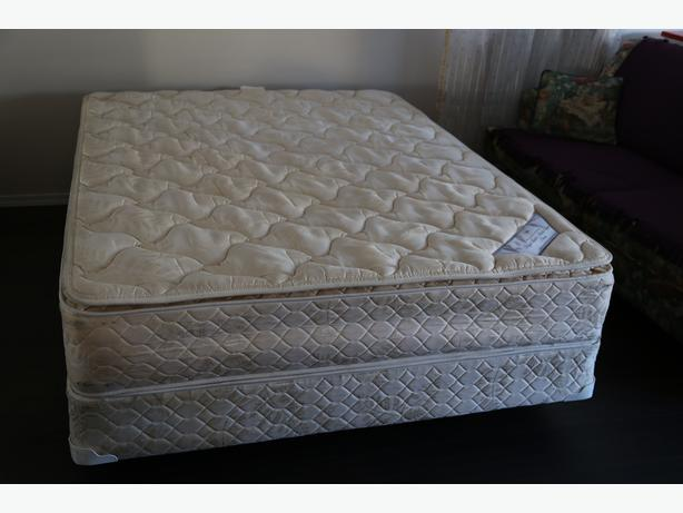queen serta bed double pillow top mattress