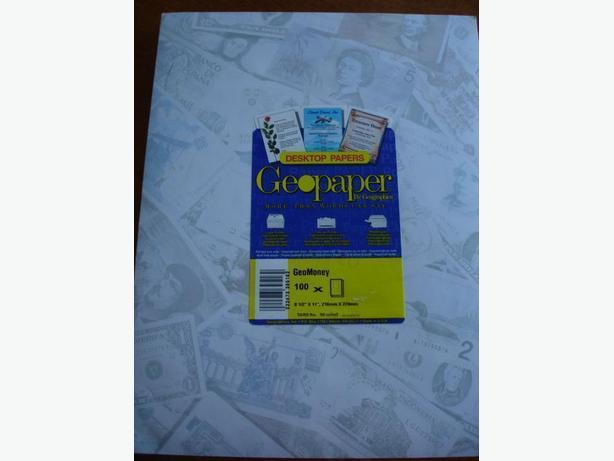 BrandNewDeluxeQuality 400 Sheets of Geographic Money Design Paper