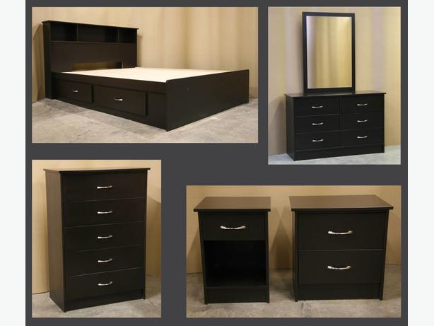 New Espresso Dark Brown King Size Bedroom Suite