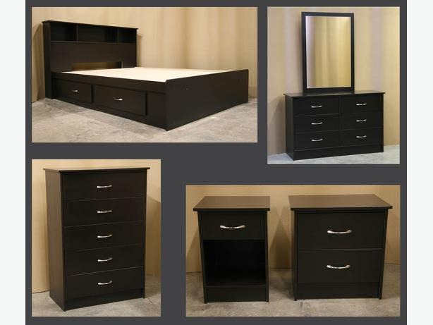 New Espresso Dark Brown Queen Bedroom Suite
