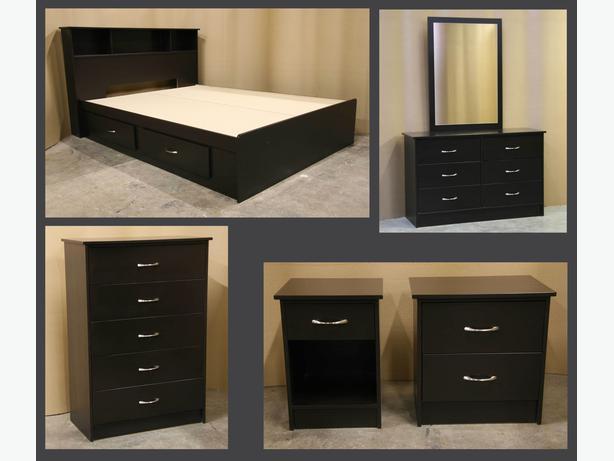 New Espresso Dark Brown Double Full Bedroom Suite