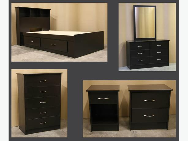 New Espresso Dark Brown Twin Single Bedroom Suite