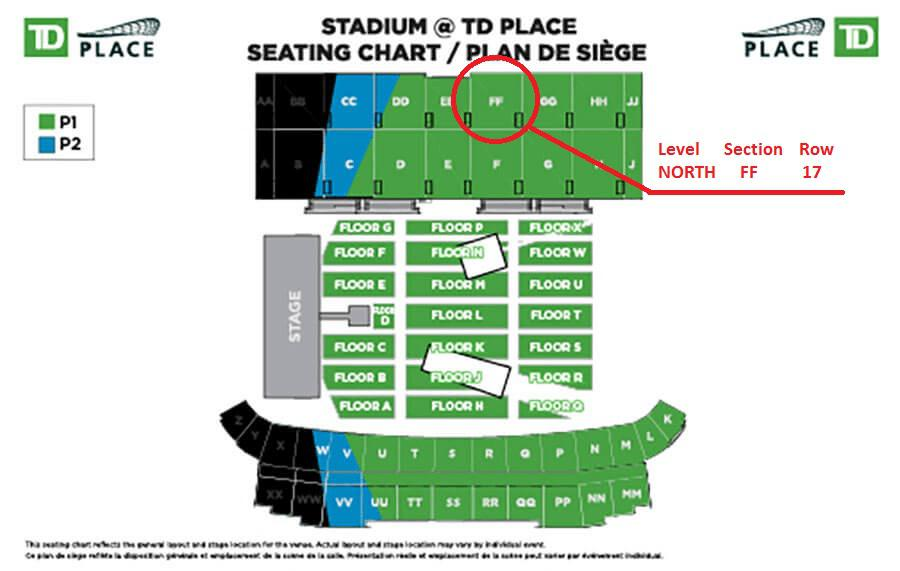 Ac dc rock or bust world tour td place sep 3 2015 at for 7 summerland terrace