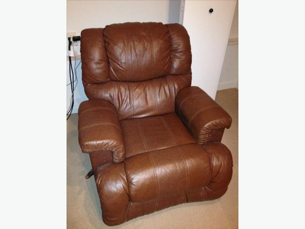 Palliser Leather Rocker Recliner Oak Bay Victoria