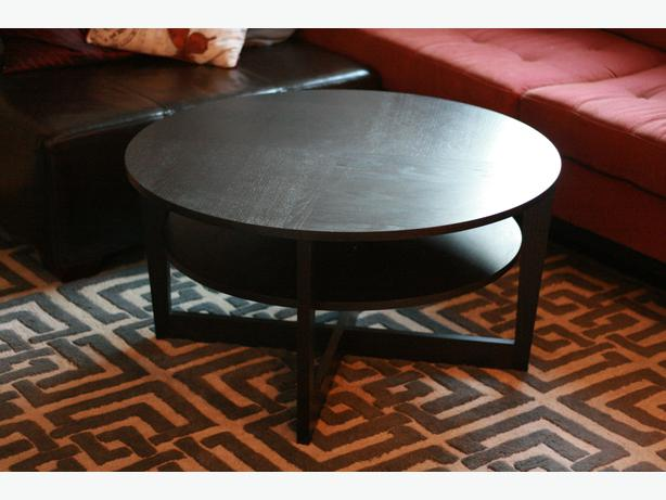 coffee table ikea vejmon black brown vancouver city vancouver. Black Bedroom Furniture Sets. Home Design Ideas