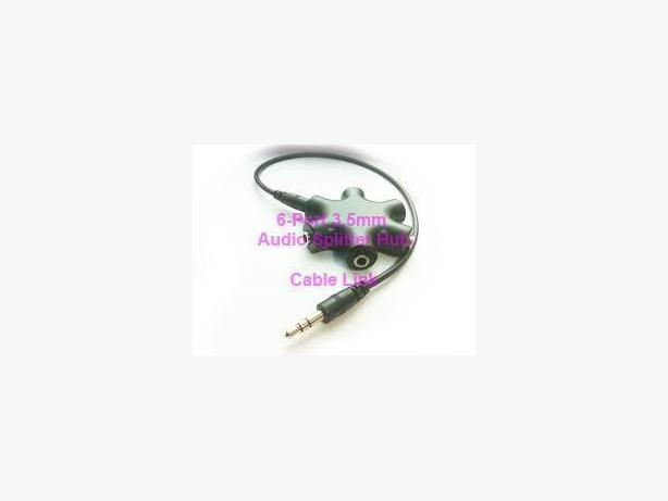 6-Port Stereo 3.5mm Audio Splitter Hub (1 to 5 splitter)