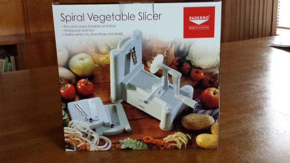 paderno spiralizer 4 blade instructions