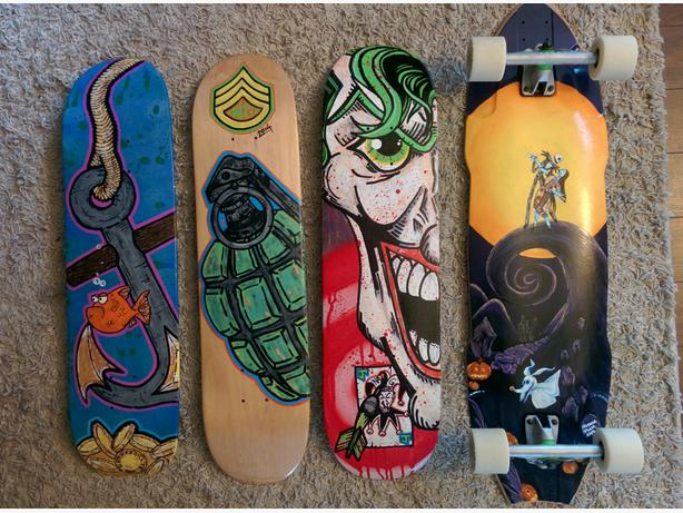 Painted Skateboard Wall Art Skateboard Wall Art
