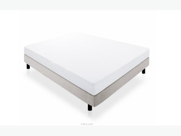 Twin Bed Lucid 174 By Linenspa 10 Quot Memory Foam Mattress