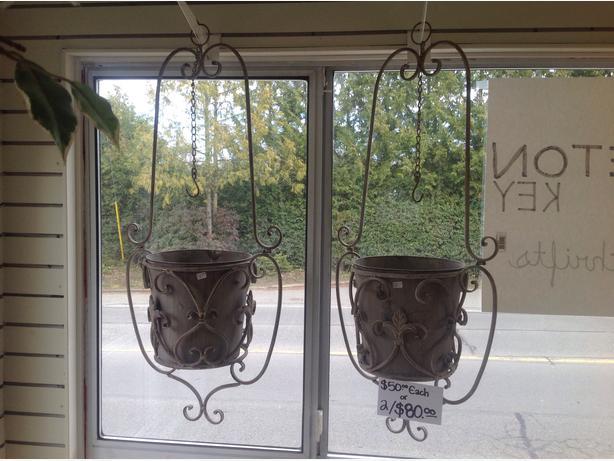 Art Deco Log Basket : Art deco hanging basket chemainus cowichan