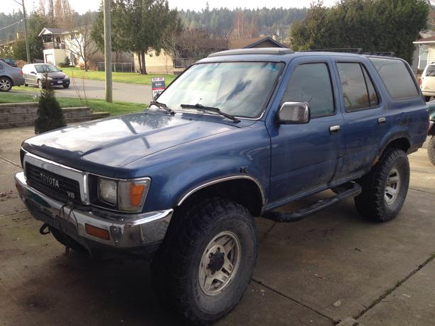 1991 toyota 4runner sr5 outside nanaimo nanaimo. Black Bedroom Furniture Sets. Home Design Ideas