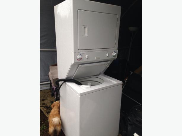 Log In needed $100 · apartment size stacking washer/dryer