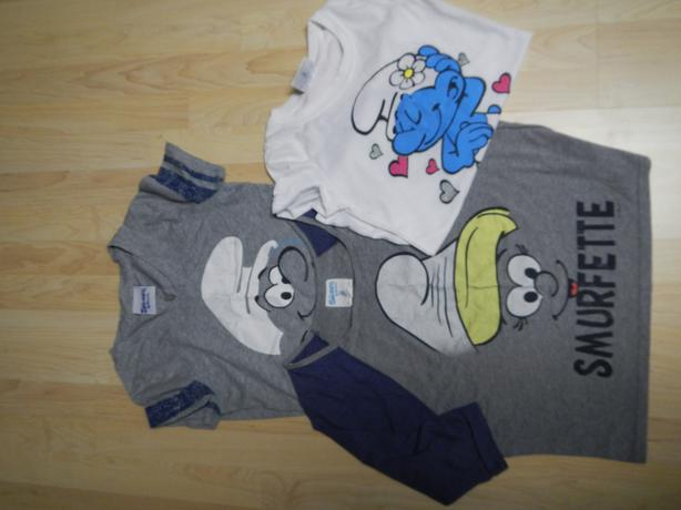 Smurf tshirts and sweatpants - Size S