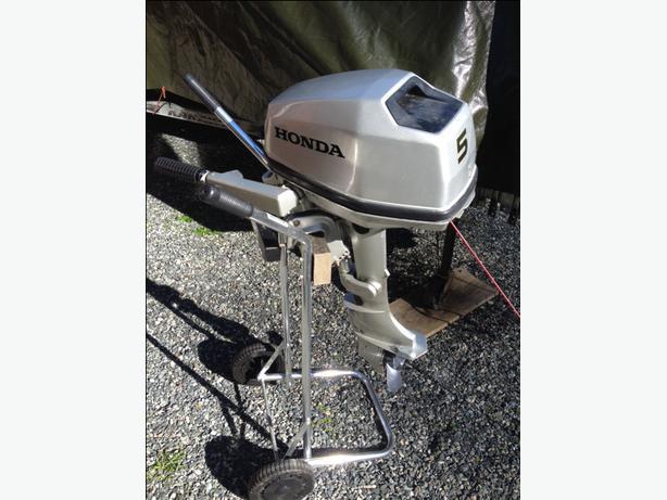 Honda 5 hp 4 stroke short shaft outboard motor 2002 for Honda 2 5 hp outboard motor