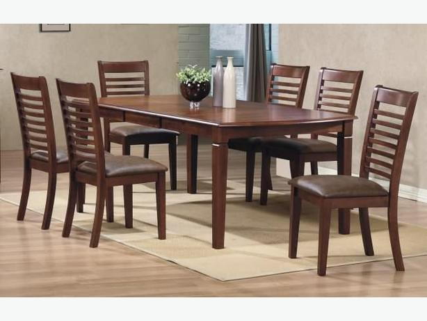 New Solid Hardwood Extending Table 6 Chairs 2 Stains 110 OFF
