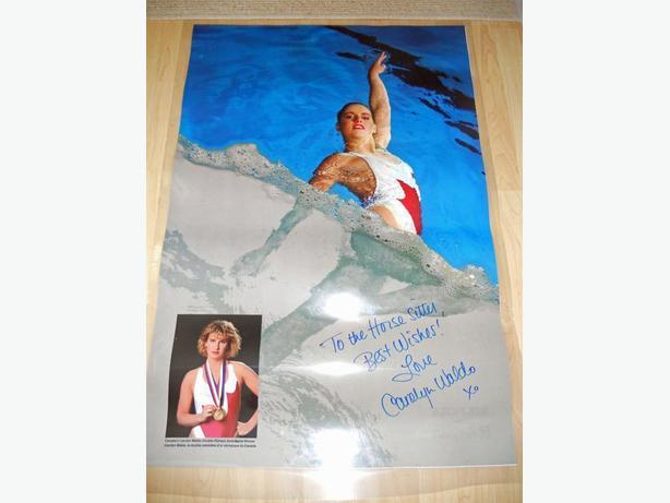 Carolyn Waldo sports anchor signed poster