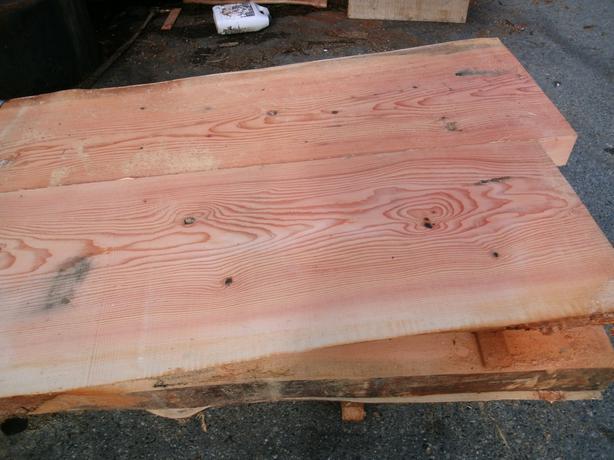 Douglas fir and yellow cedar slabs outside nanaimo for Live edge wood slabs new york