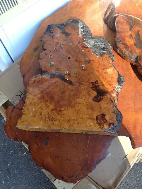 Rustic Burl Wood Bedroom Furniture: HUGE BURL CEDAR RUSTIC WOOD SLABS SAWBLADE THICK GLOSSY