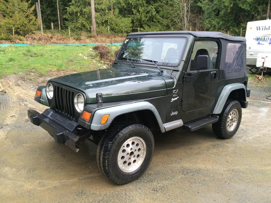 1998 jeep tj sport 4x4 price drop outside nanaimo. Black Bedroom Furniture Sets. Home Design Ideas