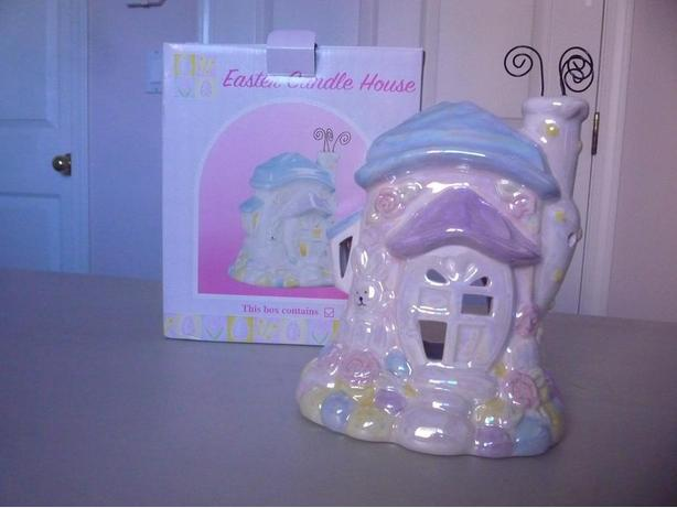New Ceramic Easter Candle House