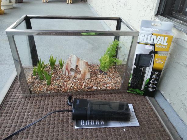 5 gallon chrome fish tank aquarium and filter victoria for 5 gallon fish tank filter