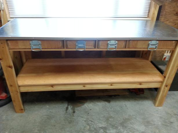 Used Metal Work Bench Workbench Metal Top West Shore Langford Colwood