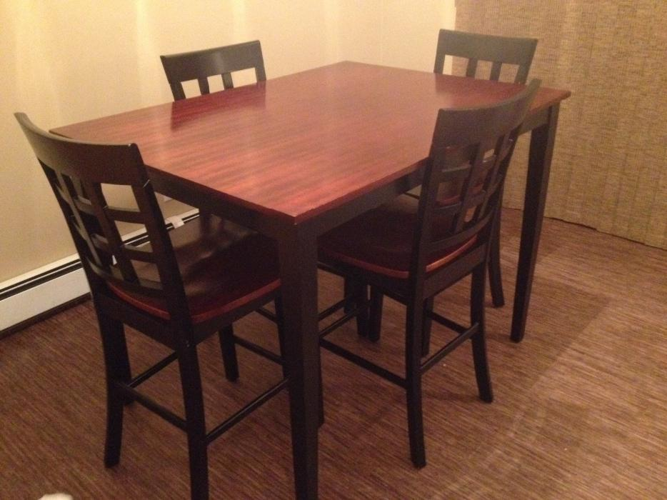 Pub Style Dining Room Table + 4 Chairs For Sale **REDUCED