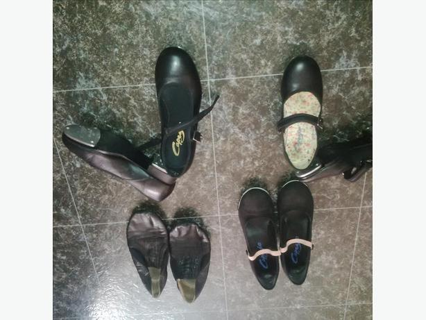 Black Dance Shoes (Tap, Jazz and Character Shoes) + Ballet