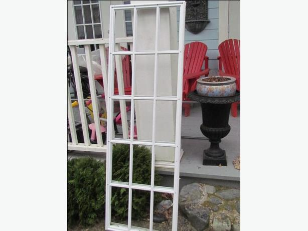 3 plastic french door window light frames 20x64 outside for Plastic french doors
