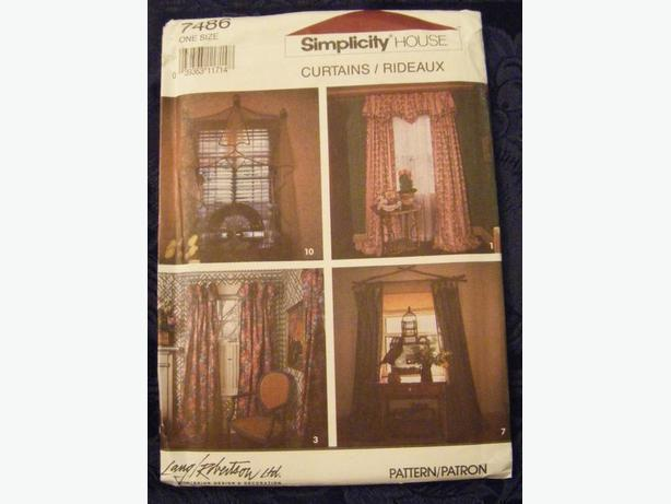 Simplicity Pattern for Curtains